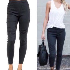 Pants - Black Moto Pants